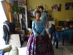 Fallera Kleid