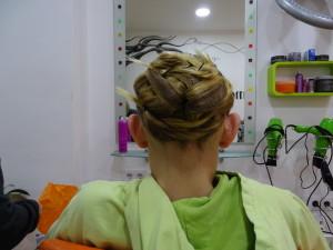 Fallera Frisur