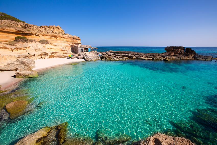 Formentera Der Strand von Calo des Mort