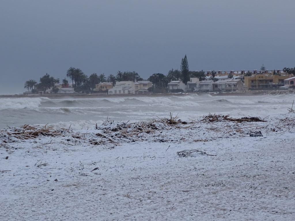 Schnee in Denia